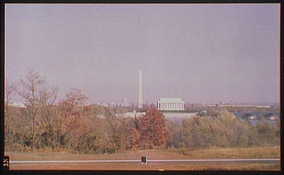 Washington, D.C. views. View of Washington, D.C. from George Washington Memorial Parkway I