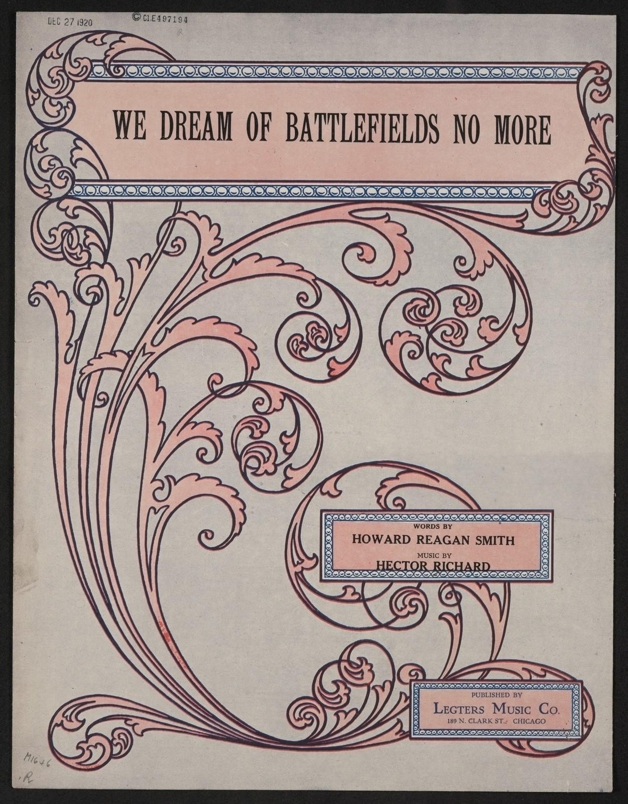 We dream of battlefields no more