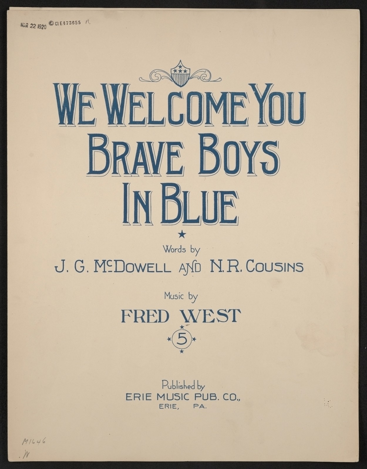 We welcome you brave boys in blue