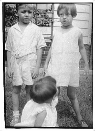 West Virginia trip. Three children