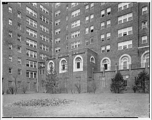 Westchester Apartments. Corner exterior of Westchester Apartments