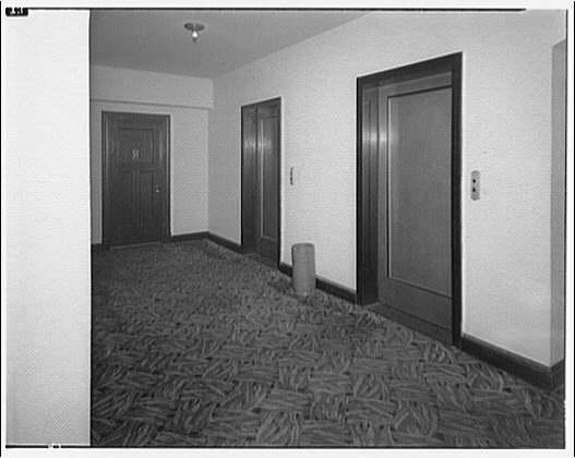Westchester Apartments. Interior corridor of Westchester Apartments IV