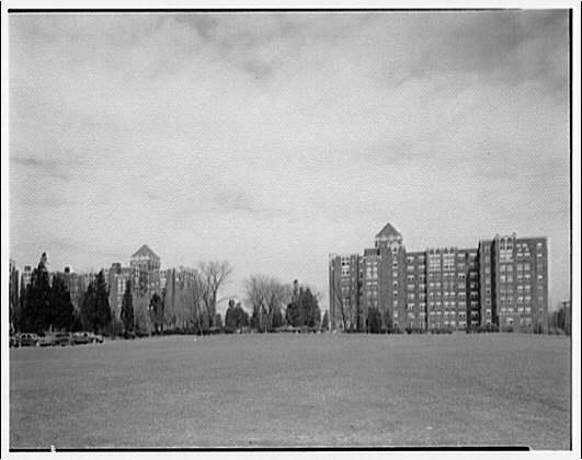 Westchester Apartments. View of Westchester Apartments across grounds