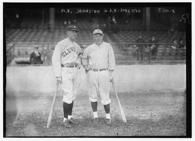 "[Wheeler R. ""Doc"" Johnston, Cleveland AL & Jimmy H. Johnston, Brooklyn NL (baseball)]"