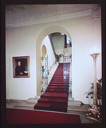 White House interiors. Grand staircase in White House II