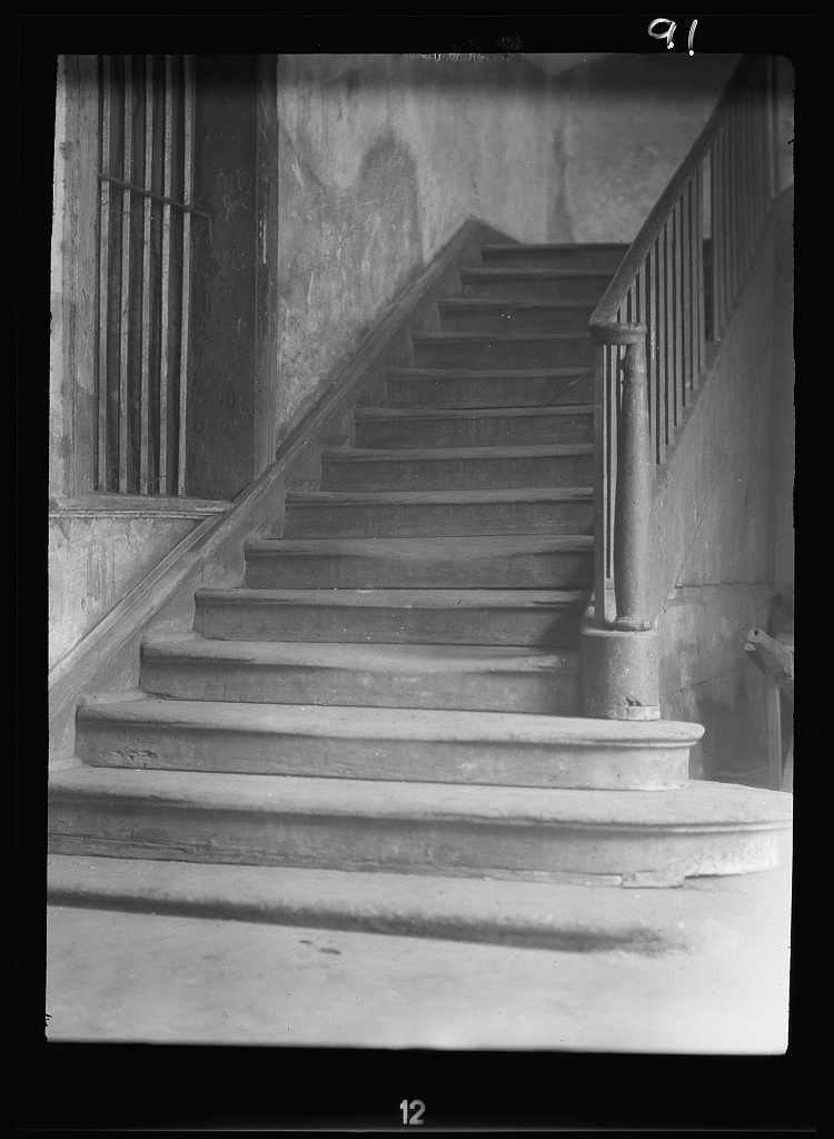 Window and stairway in the old Ursuline convent, New Orleans