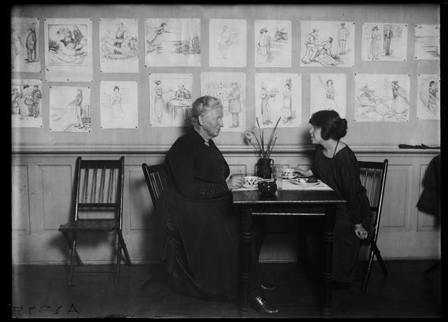 [Alice Mary Robertson, left]