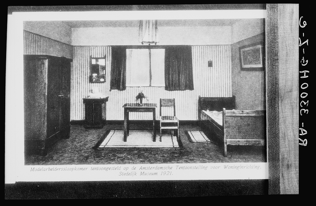 Amsterdam, Netherlands. Model room for a worker's house at the Amsterdam exhibition of home interior decoration at the Stedelijk Museum