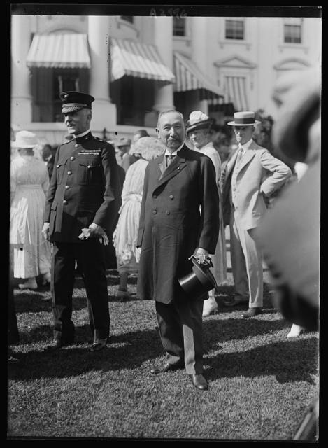 [Baron Sotokichi Urir Admiral of the Japanese Navy at White House, Washington, D.C.]