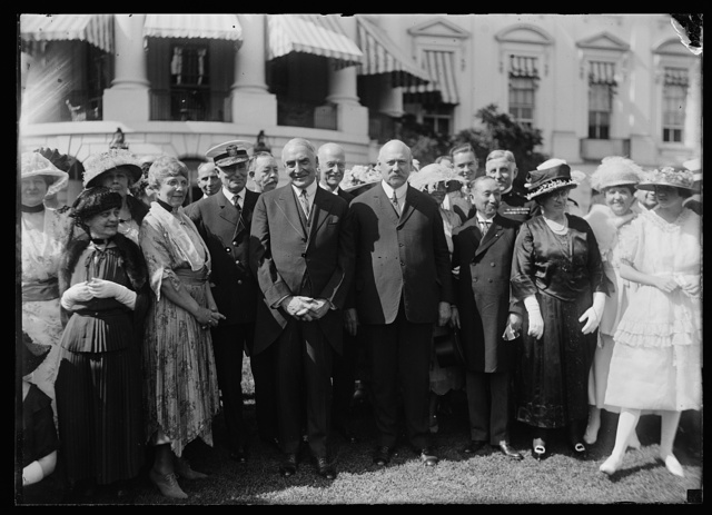Baron Sotokichi Urir Admiral of the Japanese Navy [with President and Mrs. Harding, John W. Weeks, Henry Wilson and others at the White House, Washington, D.C.]