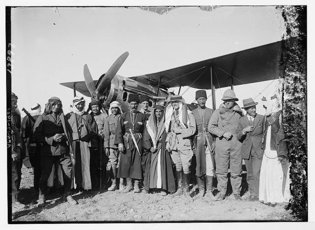 [Bedouin and Circassian chiefs on the Aerodrome at Amman, 1921]