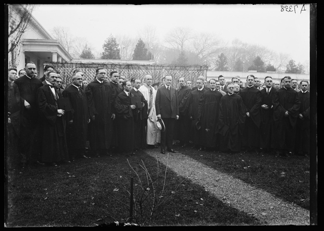 [Calvin Coolidge and group of clergymen]
