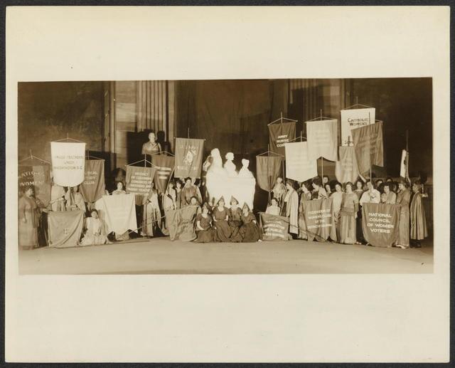 Dedication of Women's Pioneer Statue in U.S. Capitol crypt, Feb. 15, 1921.