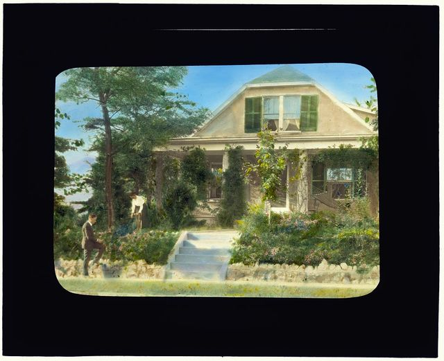 [Edgar Theodore Wherry house, 3331 Stephenson Place, Chevy Chase, Washington, D.C. Edgar and Gertrude Wherry in their native plant garden]