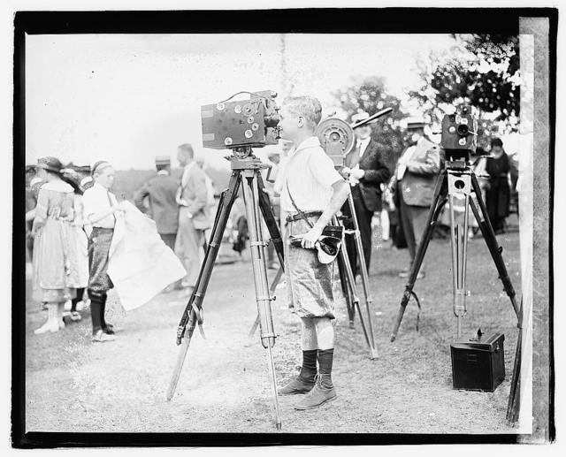 Edwards boy with movie cameras