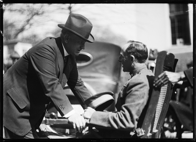 [Edwin Denby with man in wheelchair]