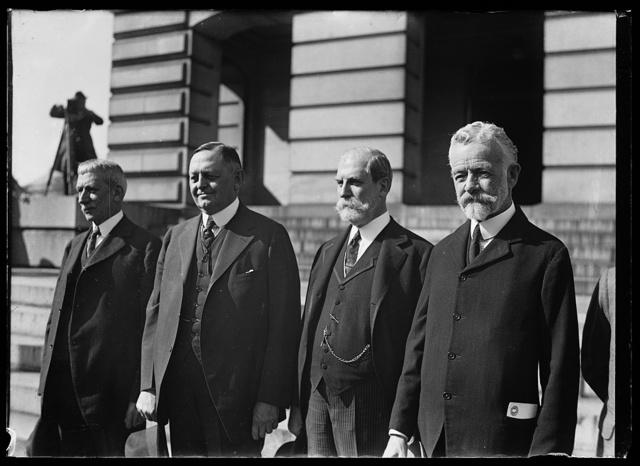 Elihu Root, Oscar Underwood, Charles Evans Hughes, Henery Cabot Lodge, Sr.