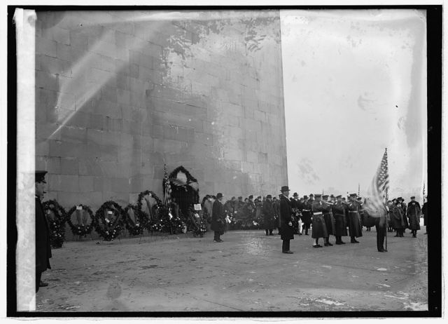 Exercises at Monument, Feb. [22/1921]