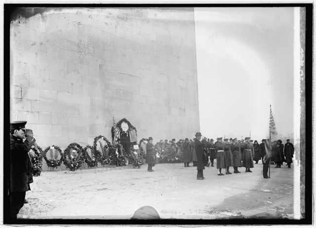 Exercises at Monument, Feb. 22/1921