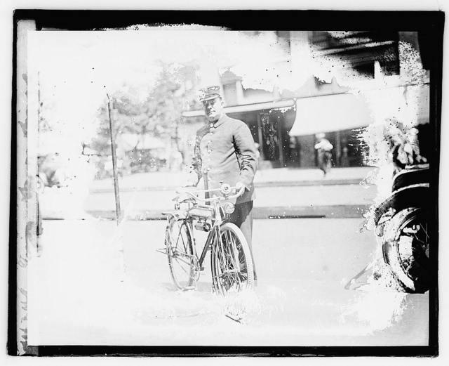 [...] fireman on bicycle