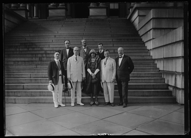 [Group; Charles Evans Hughes, front row, 2nd from left. State War and Navy Building, Washington, D.C.]
