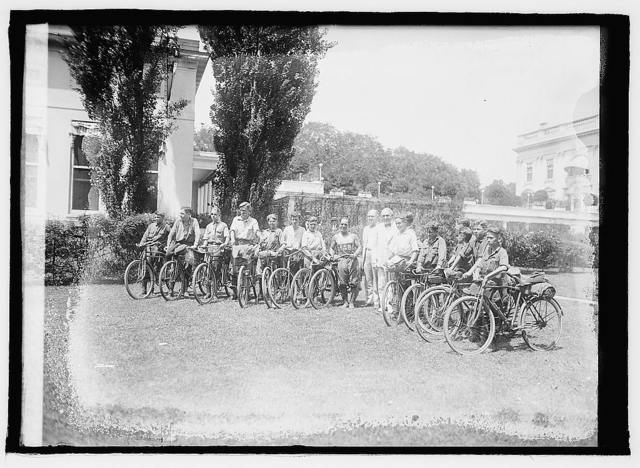 Harding & bicycle boys