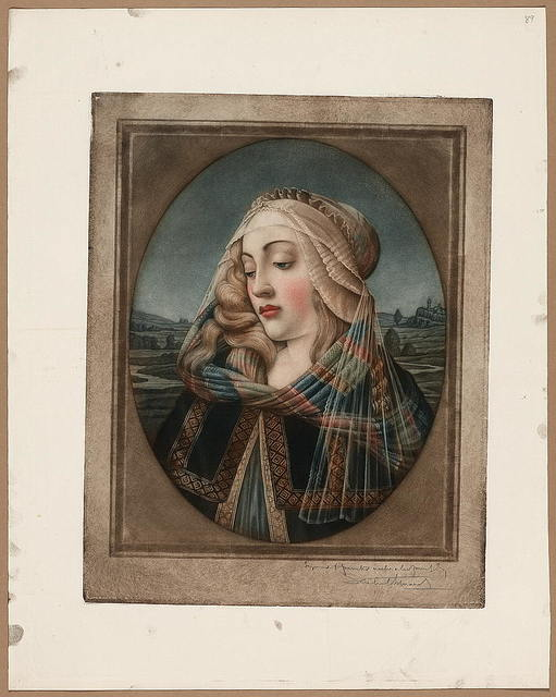 [Head of the Madonna] / engraved and printed ... S. Arlent-Edwards.