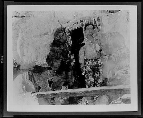 "[Houd ini covered with ice, in front of doorway, in scene from ""The man from beyond""]"