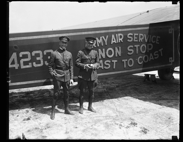 MacReady and Oakley [...] Army Pilots at [...] on their way to Mitchell Field