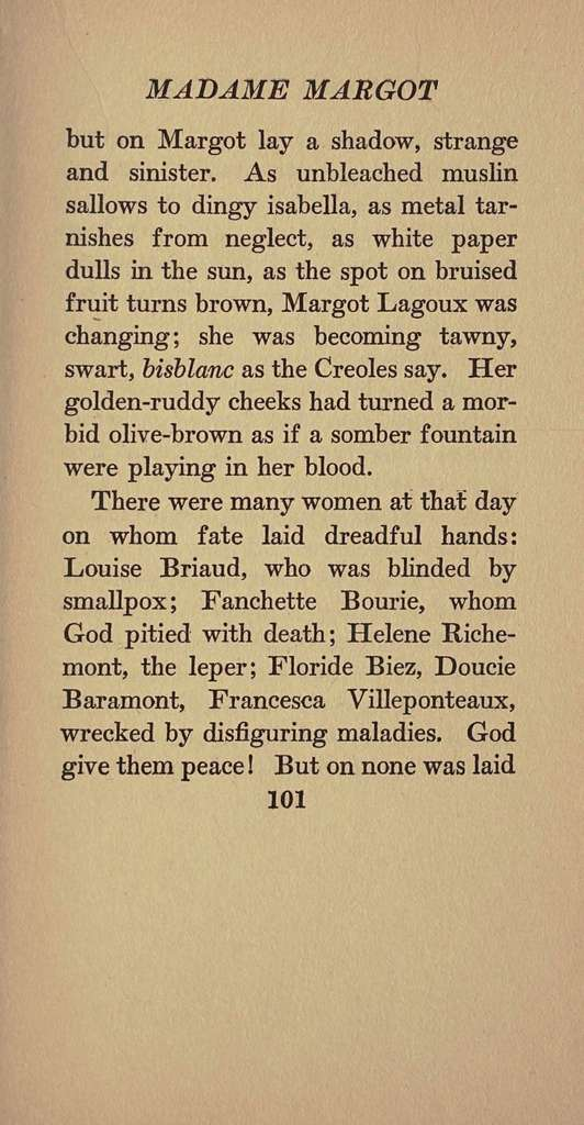 Madame Margot, a grotesque legend of old Charleston,