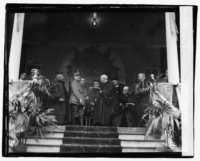 Marshal Foch receiving degree at Georgetown