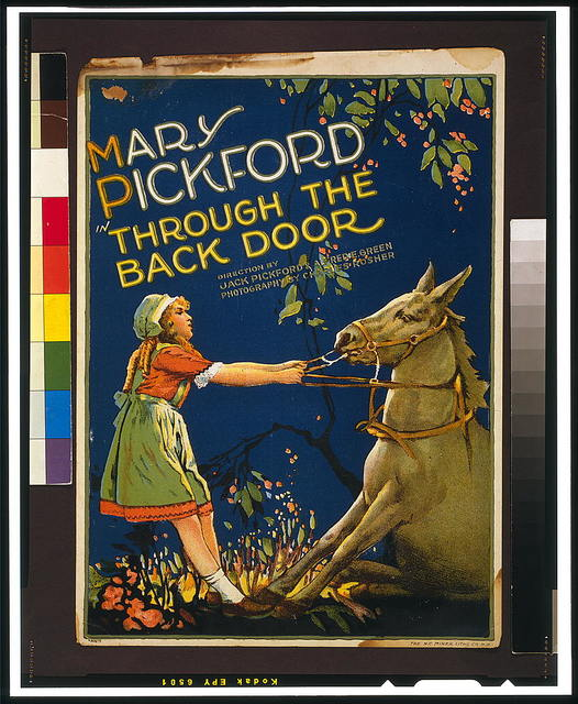 Mary Pickford in Through the back door / The H.C. Miner Litho. Co. N.Y.