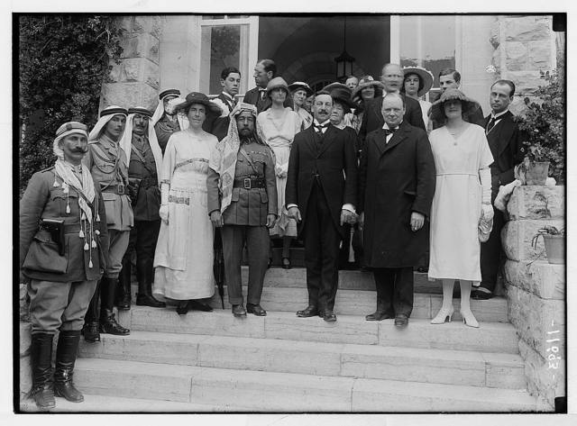 [Mr. and Mrs. Winston Churchill at Government House reception on March 28, 1921, Jerusalem]