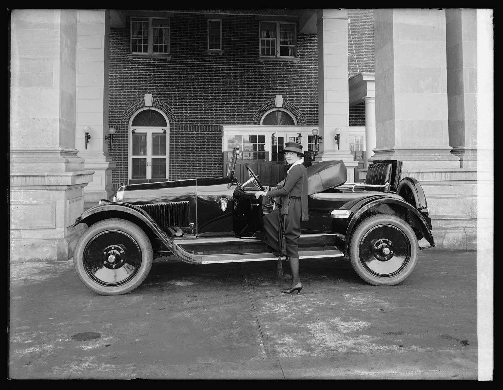 Mrs. Phil Riley in St.Clair car
