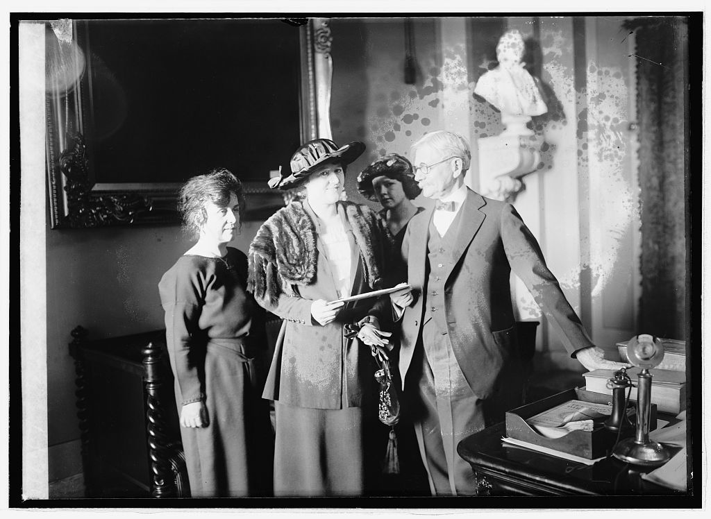 [Mrs. Thos. D. Schall, Mrs. Eugene Drendome & Vice Pres. delivering the electorial vote of Minn., 1/24/21]