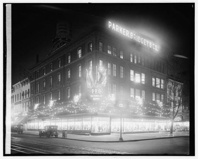 Parker & Bridget Co., [9th St. and Market Space, N.W., Washington, D.C.]