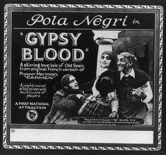 """Pola Negri in """"Gypsy Blood"""""""
