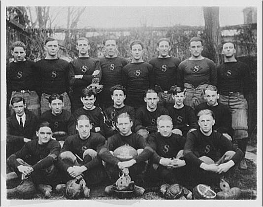 Portrait photographs. SAC 1921 145th champions football team