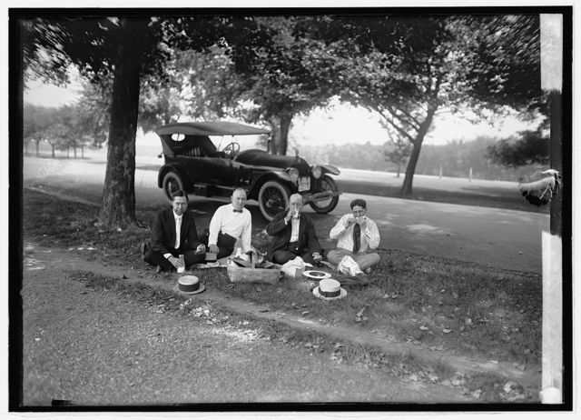 Ron D. Haynes, roadside luncheon