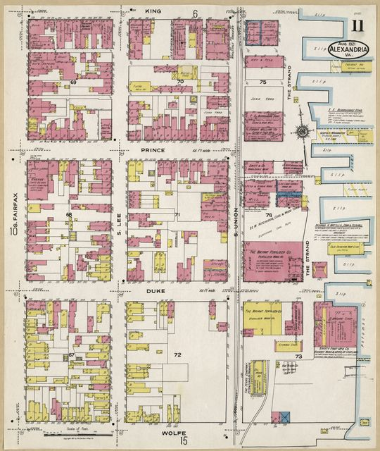 Sanborn Fire Insurance Map from Alexandria, Independent Cities, Virginia.