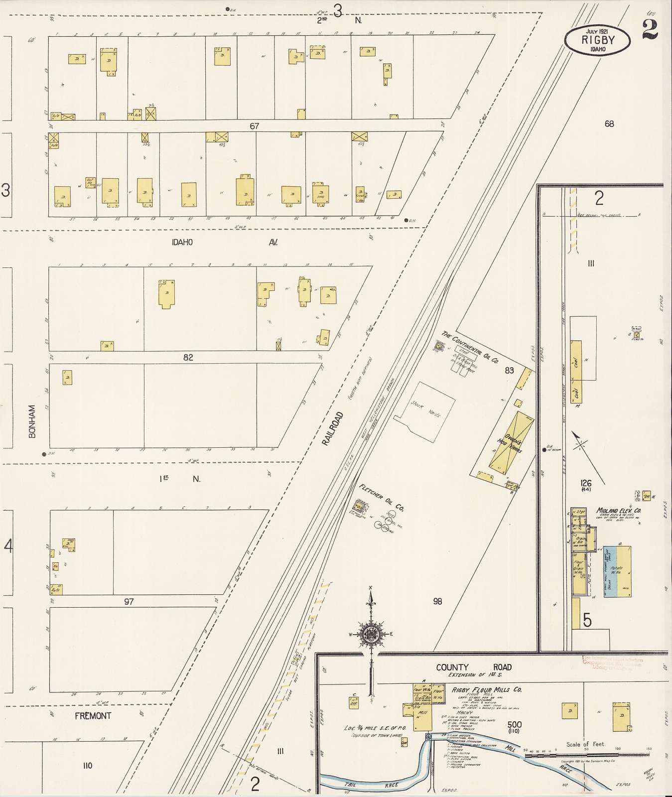 Sanborn Fire Insurance Map from Rigby, Jefferson County, Idaho