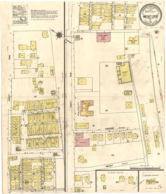 Sanborn Fire Insurance Map from Walnut Grove, Sacramento County, California.