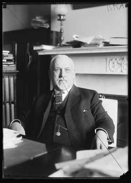 Sen. Edwin F. Ladd, of North Dakota, at his desk in the Senate Office Bldg.