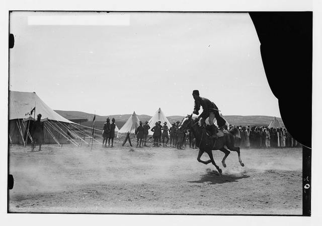Sir Herbert Samuel's second visit to Transjordan, etc. Circassian horsemanship.