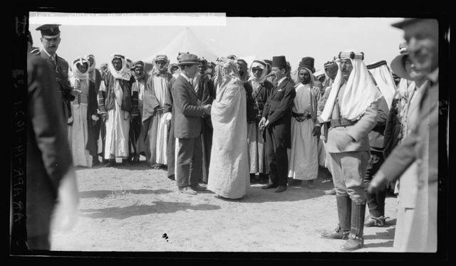 Sir Herbert Samuel's second visit to Transjordan, etc. Col. [T.E.] Lawrence and Emir Abdullah