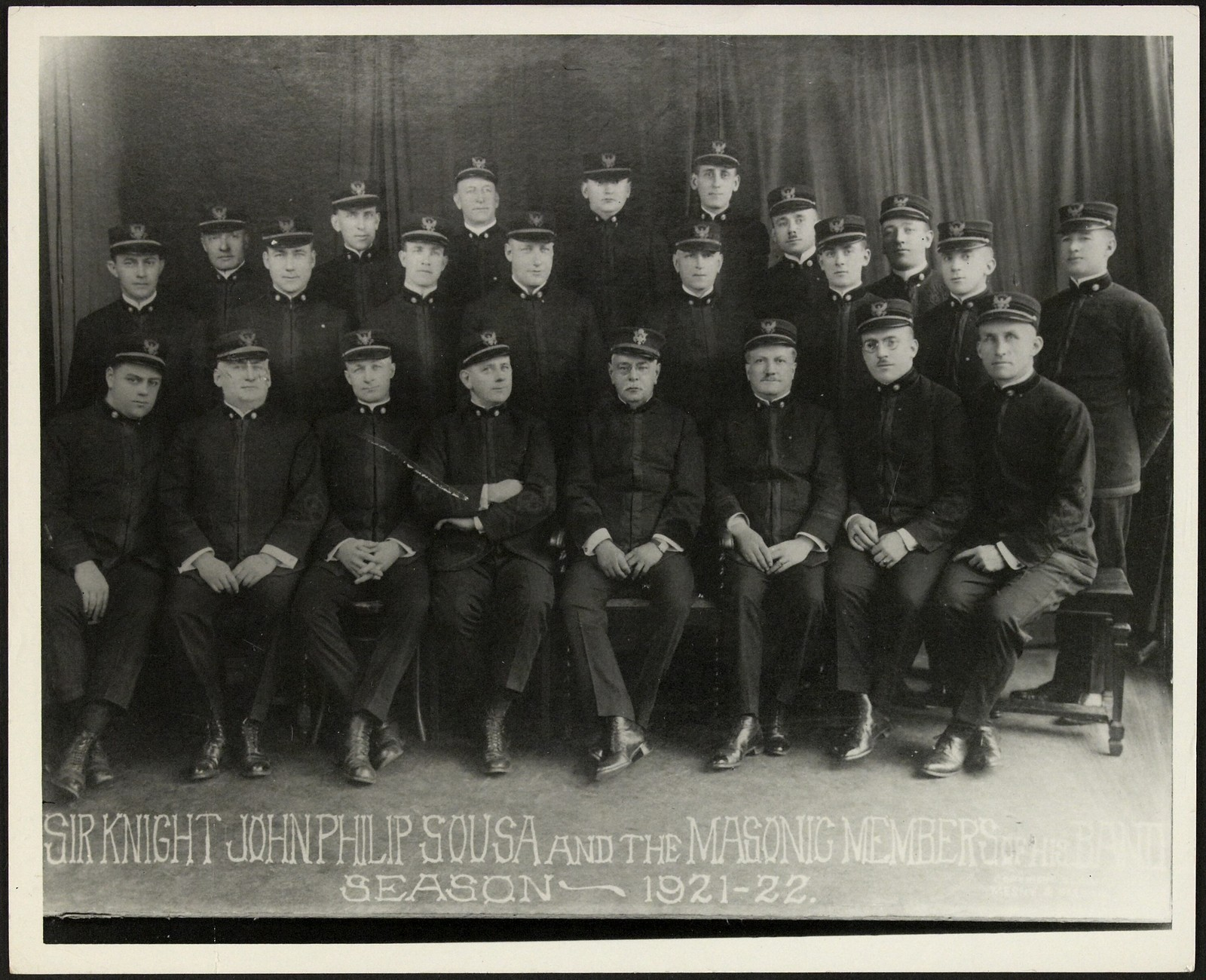 Sousa and the Masonic members of his band