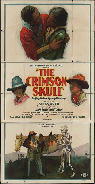"The Norman Film M'F'G Co. presents ""the crimson skull"" Baffling western mystery photoplay / / Ritchey Lith. Corp. N.Y."
