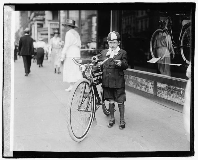 Times boy on bicycle
