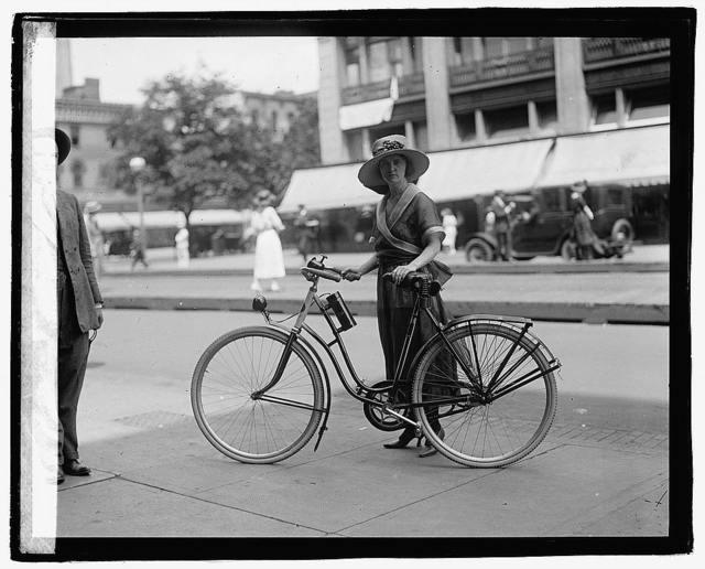 Times girl on bicycle