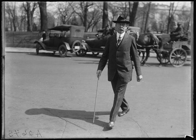 [Unidentified man; White House in background. Washington, D.C.]